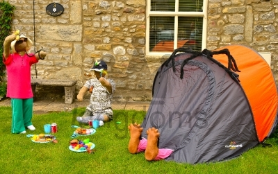 Camping Scarecrow Family