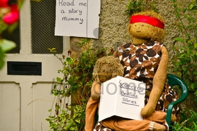 Mother And Child Scarecrows