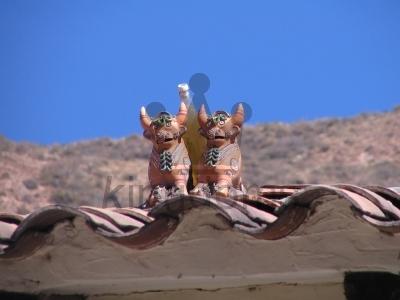 Peruvian Roof Bulls