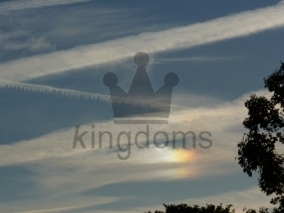 Summer Contrails With Rainbow Effect