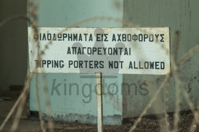 Tipping Porters Not Allowed