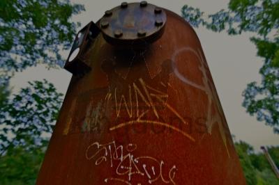 Vandalised Tank