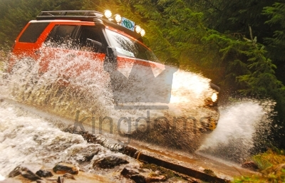 Land Rover In Water