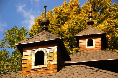 Turrets On Building