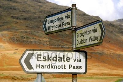 Hardknott Pass Signs