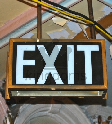 Old Exit Sign