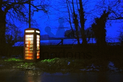 Phone Box At Night
