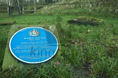 Beatrix Potter Blue Sign