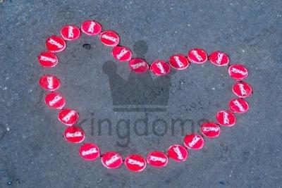 Bottle Lid Heart