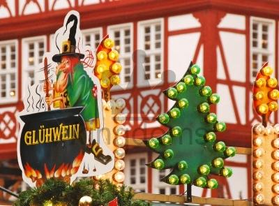 Glühwein At Christmas Market