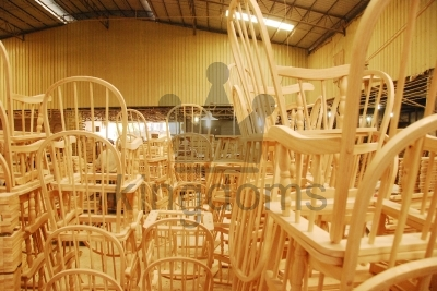 Piles Of Wooden Chairs