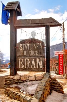 Bran Village Sign