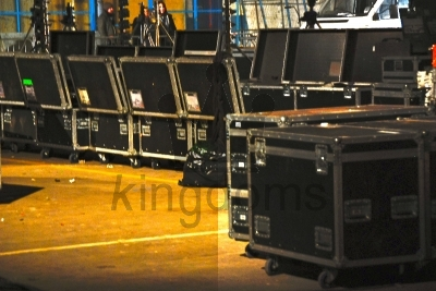Flightcases Lined Up