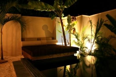 Plunge Pool at Night