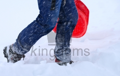 Walking Through Snow