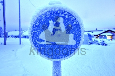 Snowmobiles Sign