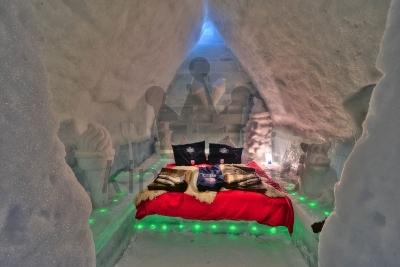Ice Hotel Bedroom